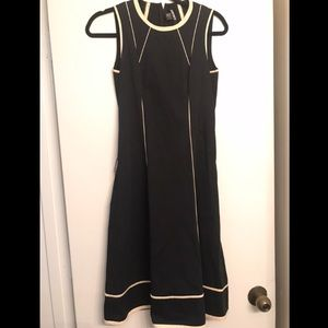 DKNY Black Structured Career Dress size 2